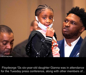 George Floyd's six-year-old daughter Gianna attends press conference