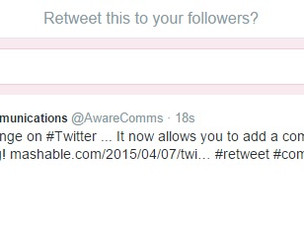 How will Twitter's new 'retweet with comment' feature impact on your timeline?