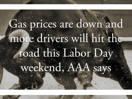 Gas prices are down and more drivers will hit the road this Labor Day weekend, AAA says