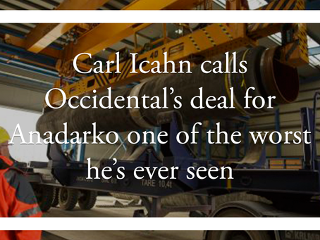 Carl Icahn calls Occidental's deal for Anadarko one of the worst he's ever seen