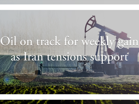 Oil on track for weekly gain as Iran tensions support