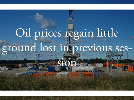 Oil prices regain little ground lost in previous session