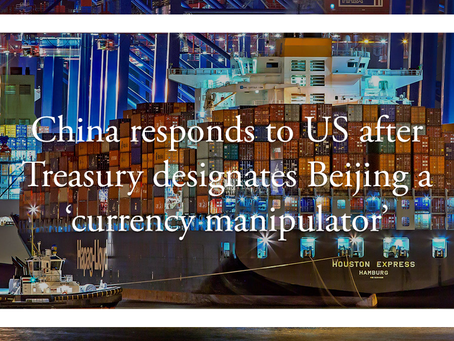China responds to US after Treasury designates Beijing a 'currency manipulator'