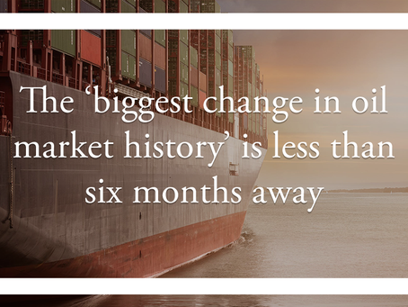 The 'biggest change in oil market history' is less than six months away
