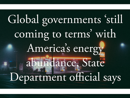 Global governments 'still coming to terms' with America's energy abundance