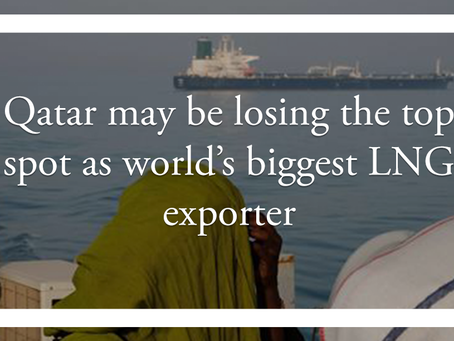 Qatar may be losing the top spot as world's biggest LNG exporter