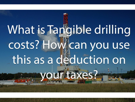 What is Tangible Drilling Costs?