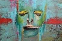 2012 Untitled painting by Orit Mizne 50x50cm acrylic on canvas