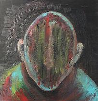 Untitled painting 2012 50X50cm by Orit Mizne