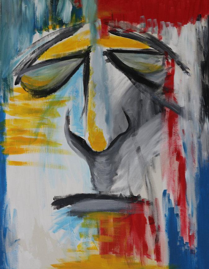 Untitled 2011 painting 90x70cm acrylic on canvas by Orit Mizne