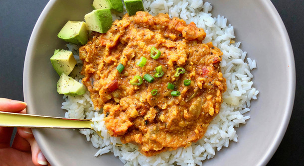 Easy Red Lentil Curry (plant based)