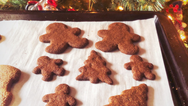 Chewy Gingerbread Cookies vegan option