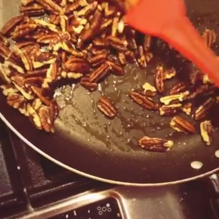Stir in toasted pecans