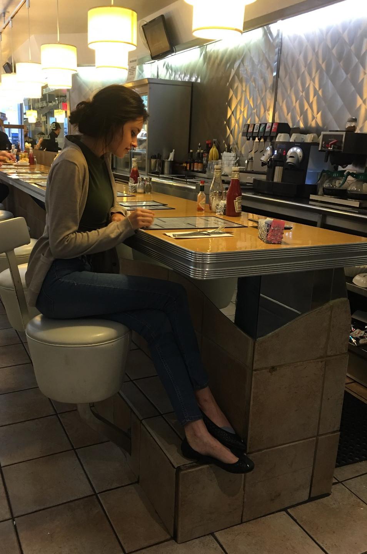 Waiting on Veggie burger & Fries