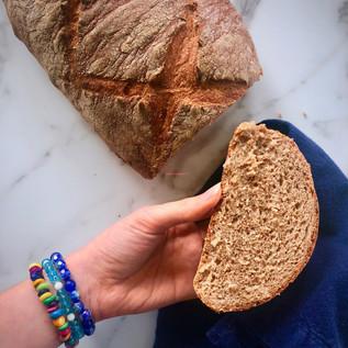 Sprouted Spelt Flour Bread (vegan/oil free)