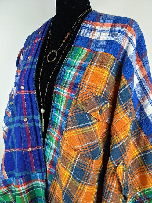 Hip Chick Design Upcycled Blanket Shawl