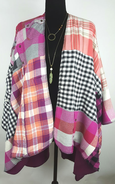 Hip Chick Design Up-cycled Blanket Shawl