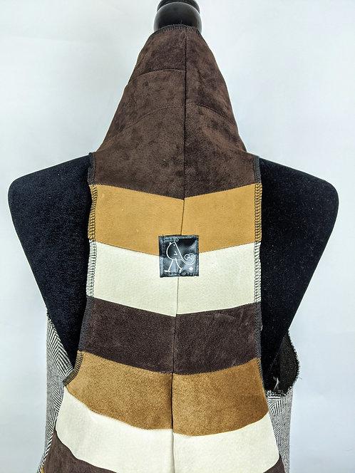 Hip Chick Design Upcycled Chevron Vest