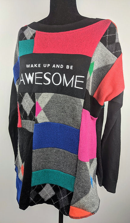 Hip Chick Design Positive Vibes Sweater