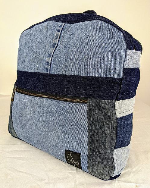 Hip Chick Design Denim Backpack