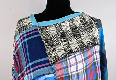Hip Chick Design Upcycled Flannel Shawl