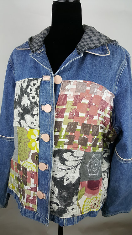Hip Chick Design Up-cycled Jean Jacket