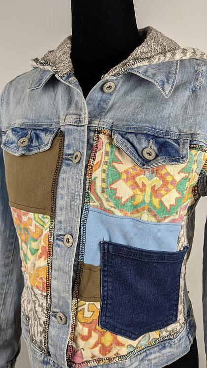 Hip Chick Design Upcycled Jean Jacket