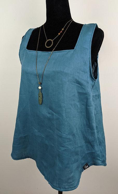 Hip Chick Design Linen Tank Top