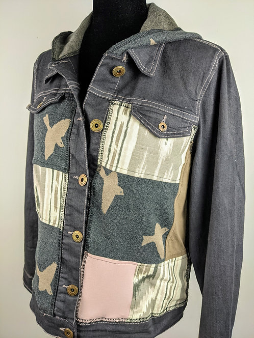 Hip Chick Design Upcycled Jean Jacket