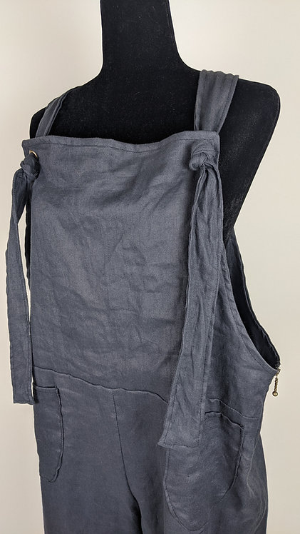 Hip Chick Design Linen Overalls
