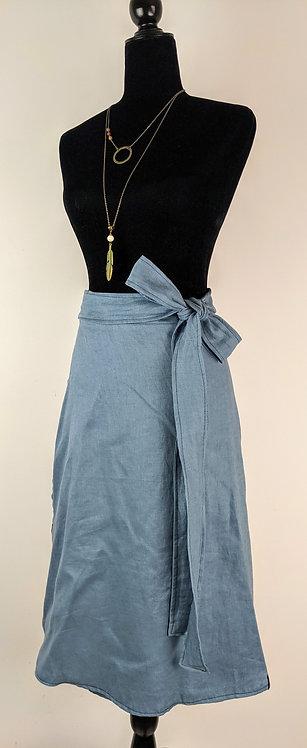 Hip Chick Design Linen Wrap Skirt