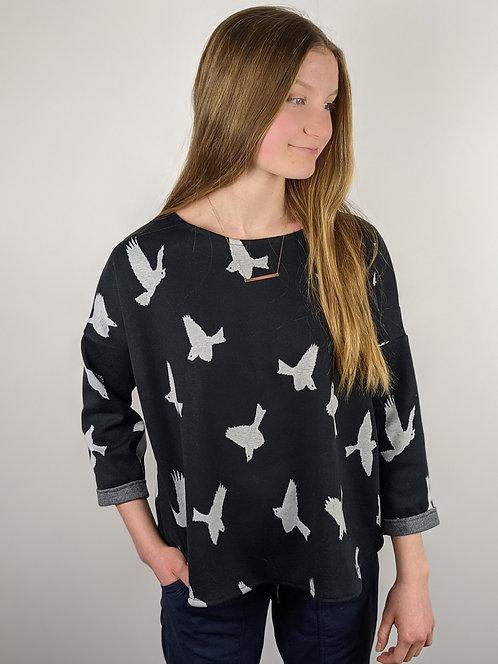 Hip Chick Design Oversized Sweatshirt