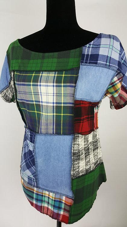 Hip Chick Design Patchwork Shirt