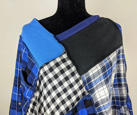Hip Chick Design Up Cycled Flannel Shawl