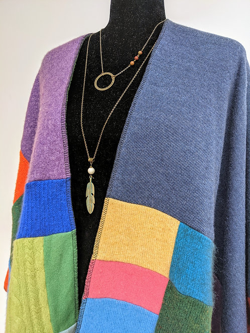 Hip Chick Design Upcycled Wool Blanket Shawl