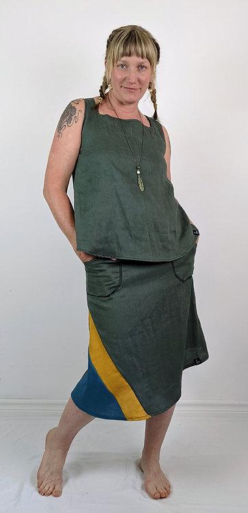 Hip Chick Design Linen Skirt