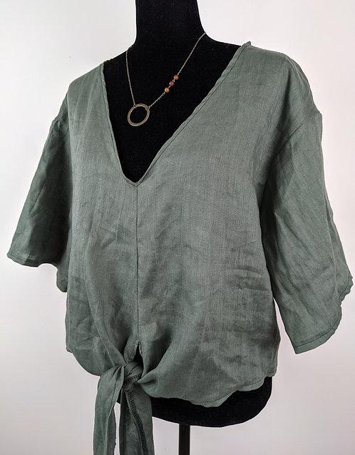 Hip Chick Design Linen Blouse