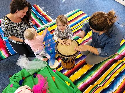 parents children scarves music lessons