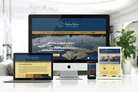 Healing Water Health Center needed an updated look of their old website. We switched them from an outdated Wordpress site to a state of the art Wix site. We integrated their existing booking platform into the site so their clients can view, browse and book their services.