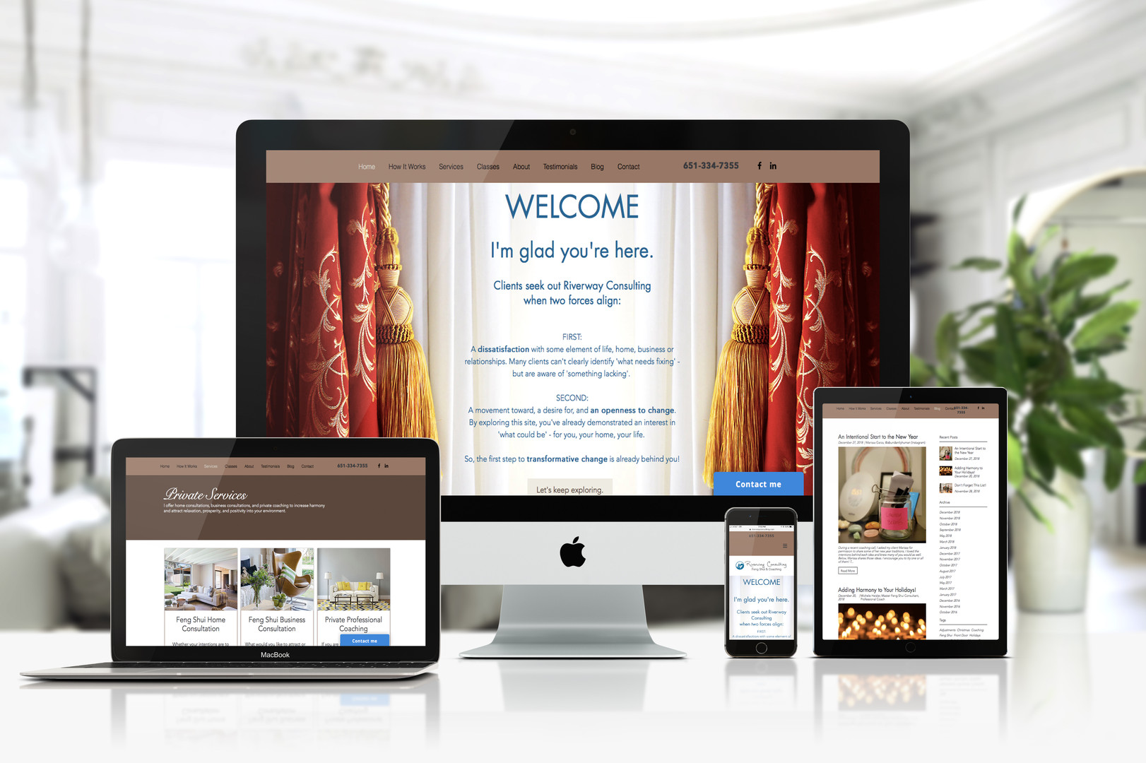 Our client Michele was looking for a boutique style website that demonstrates her services and expertise without overloading it with text and images. She was looking for a professional yet relaxed/calming feel.