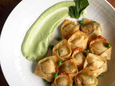 Spring Caramelized Pea Potstickers | Blogger Collaboration