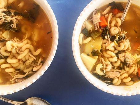 Chunky Chicken Noodle Soup | Be Bold