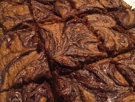 Gluten-Free | Nutella Swirl Pumpkin Squares
