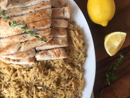 Creamy Lemon Orzo Risotto with Chicken | Patience Is a Virtue