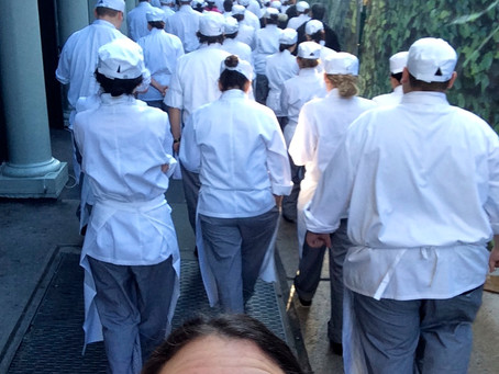 Day 82: Fire Drill in Chef Whites.