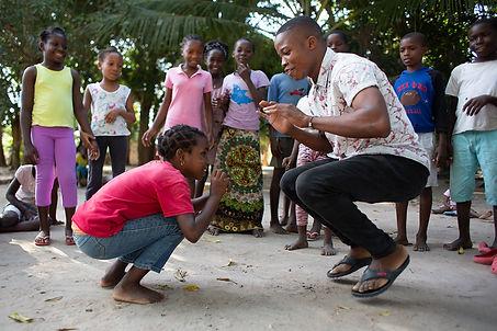 children play outside