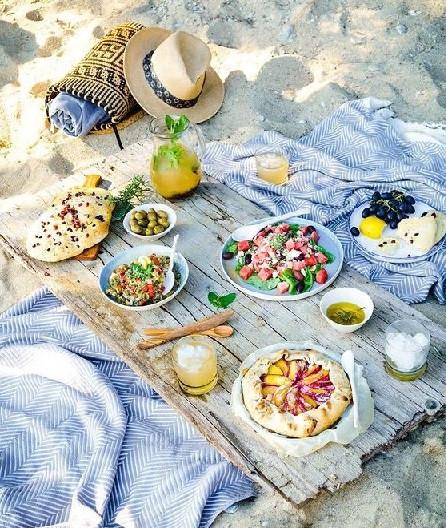 Más que comida en la playa