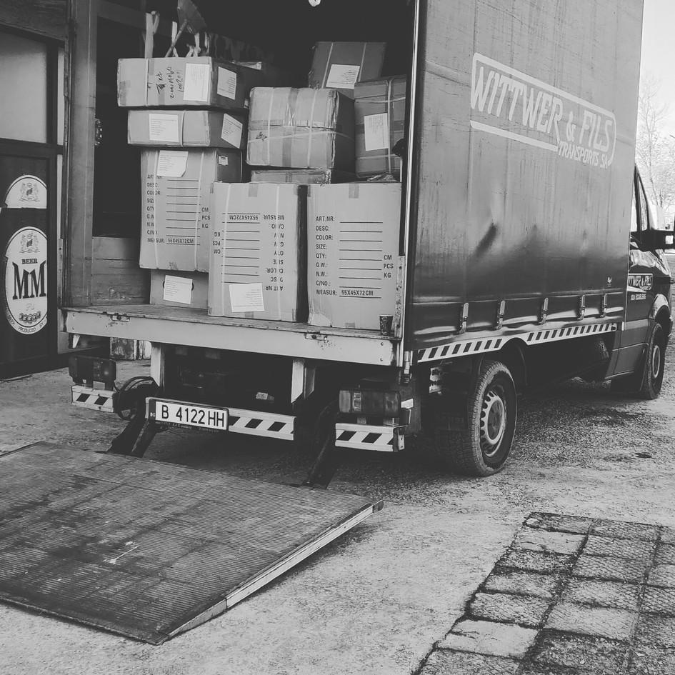 транспорт на стока за магазини