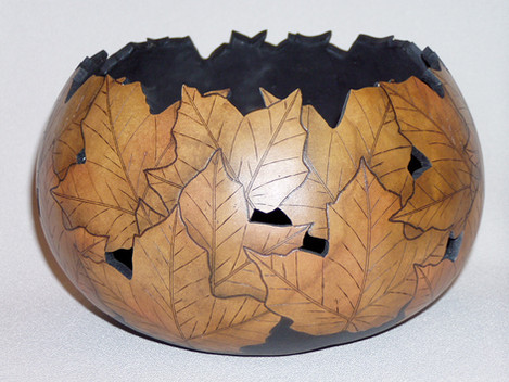 Pyrography with Wood Stain