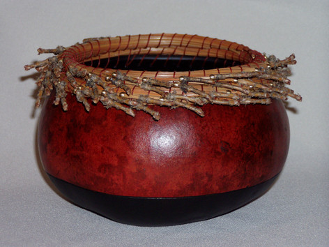 Pine Needle Rim with Beads
